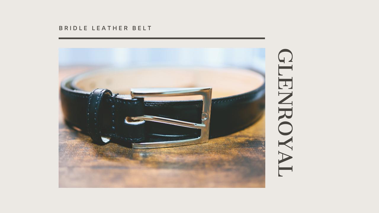 グレンロイヤル(GLENROYAL)ブライドルレザーのベルトを購入レビュー