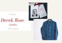 Derek Rose(デレク・ローズ)|ネイビーストライプのセットアップパジャマ購入レビュー