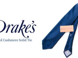 Drake's(ドレイクス)|秋冬にぴったりの素材感「ウールカシミヤソリッドタイ(ハンドロール)」