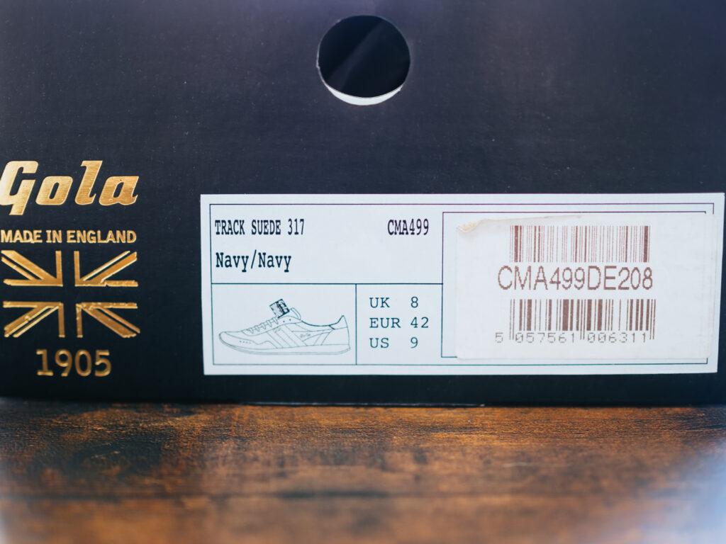 Gola(ゴーラ) 英国製の本革スエードスニーカー「TRACK SUEDE 317」レビュー